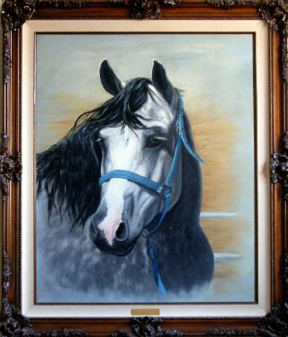 Horse Portrait in oil paint