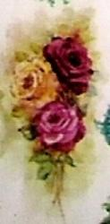 antique roses gold and burgundy